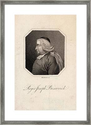 Roger Joseph Boscovich Framed Print by Joseph Muller Collection /new York Public Library