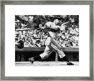 Roger Maris Hits 52nd Home Run Framed Print