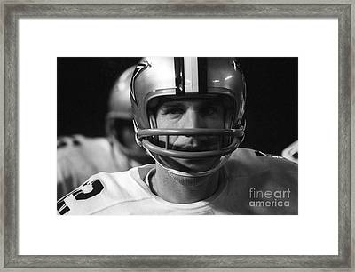 Roger Staubach Dallas Cowboys Framed Print by Ross Lewis