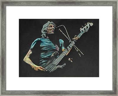 Roger Waters. Framed Print by Breyhs Swan