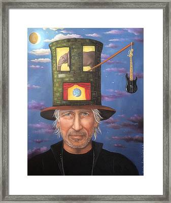 Roger Waters Edit 3 Framed Print by Leah Saulnier The Painting Maniac