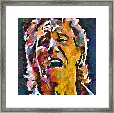 Roger Waters Pink Floyd Framed Print by Yury Malkov