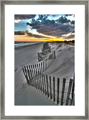 Rogers Beach First Day Of Spring 2014 Framed Print