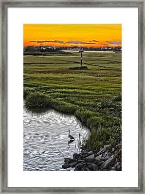 Rogers Drawbridge Sunset Framed Print