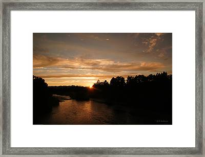 Rogue August Sunset Framed Print by Mick Anderson