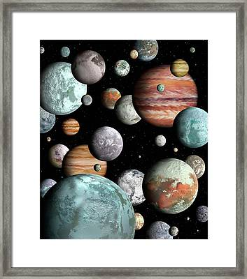Rogue Planets Framed Print by Lynette Cook