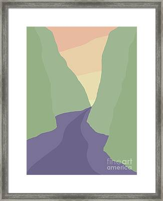 Rogue River Canyon Framed Print by Henry Manning