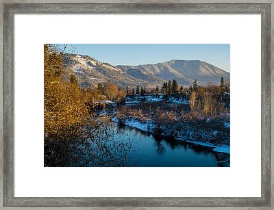 Rogue River Winter Framed Print by Mick Anderson