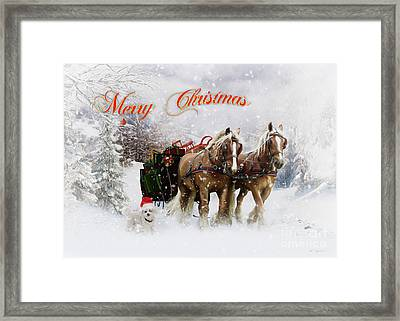 Merry Christmas Framed Print by Shanina Conway