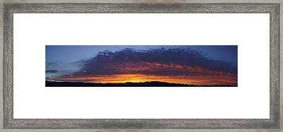 Rogue Valley Sunset Panoramic Framed Print by Mick Anderson