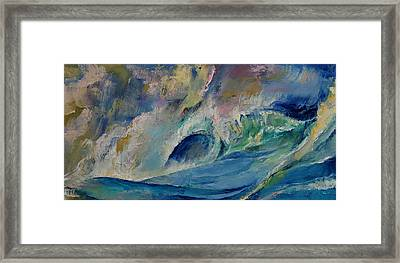 Rogue Wave Framed Print by Michael Creese