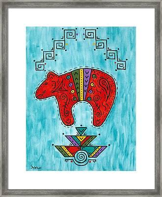Rojo Oso Framed Print