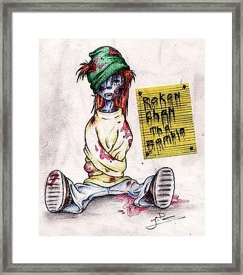 Rokon Chan The Zombie Framed Print