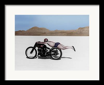Motorcycles Photographs Framed Prints
