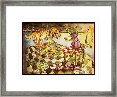 Roles In The Alcoholic Family Framed Print