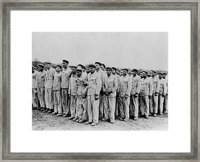 Roll Call At Buchenwald Concentration Framed Print