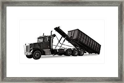 Roll Off Truck  Framed Print