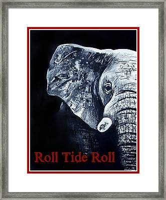 Roll Tide Roll Framed Print by Lindsay Pace