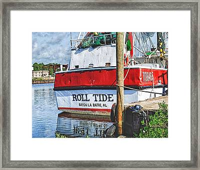 Roll Tide Stern Framed Print by Michael Thomas