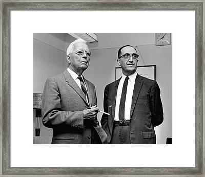 Rolla Dyer And Salvador Luria Framed Print by National Library Of Medicine