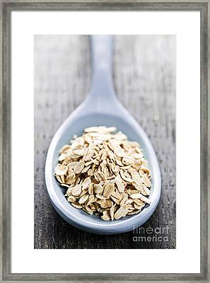Rolled Oats Framed Print