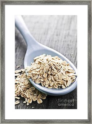 Rolled Oats In Spoon Framed Print