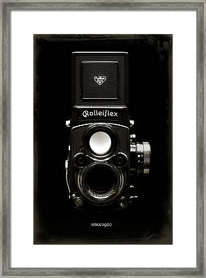 Rolleiflex Tlr Framed Print by Dave Bowman
