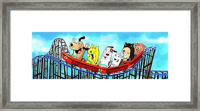 Roller Coaster Fun Framed Print