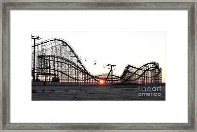 Roller Coaster Framed Print by John Rizzuto