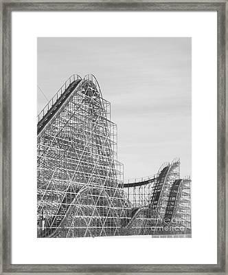 Roller Coaster Wildwood Framed Print by Eric  Schiabor