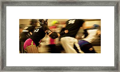 Roller Derby Framed Print by Theresa Tahara