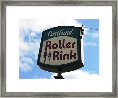 Roller Rink Framed Print