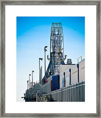 Rollercoaster Framed Print by Trish Tritz