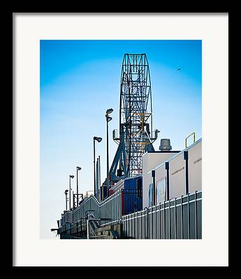 Casino Pier Mixed Media Framed Prints