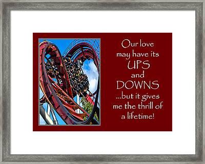 Rollercoaster Valentine Framed Print