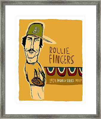 Rollie Fingers Oakland A's Framed Print by Jay Perkins