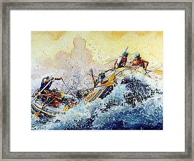 Rollin' Down The River Framed Print by Hanne Lore Koehler