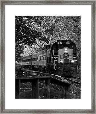 Rollin' Down The Tracks Framed Print