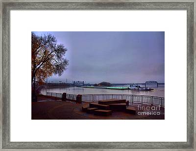 Framed Print featuring the photograph Rollin Onna River by Robert McCubbin