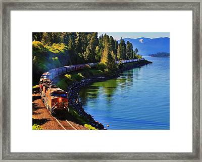 Rollin' Round The Bend Framed Print
