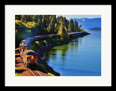 Freight Train Framed Prints
