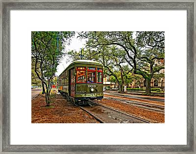 Rollin' Thru New Orleans Framed Print by Steve Harrington