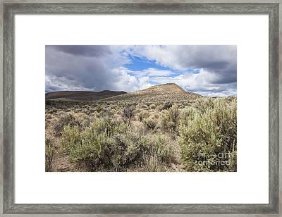 Rolling Desert Hills Framed Print