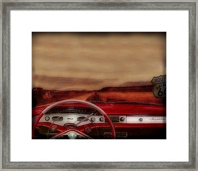 Rolling Down Old 66 Framed Print by Wishes and Whims Originals By Michelle Jensen