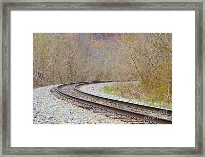Rolling Down The Line Framed Print