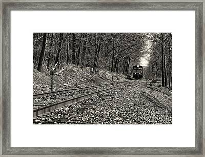 Rolling Down The Tracks Framed Print