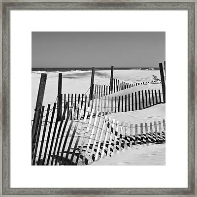 Rolling Fence Framed Print by Denis Lemay