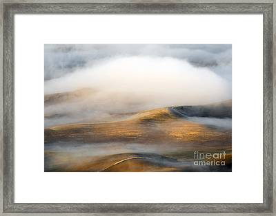 Rolling Gold Framed Print by Mike  Dawson