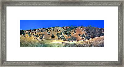 Rolling Hills In The Summer Framed Print by Wernher Krutein
