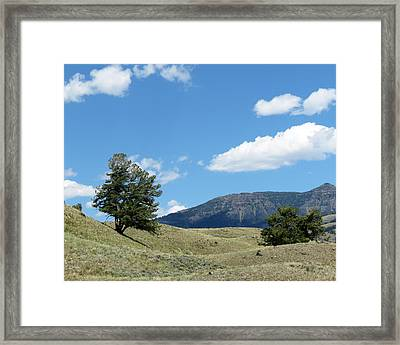 Framed Print featuring the photograph Rolling Hills by Laurel Powell